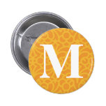 Ornate Floral Monogram - Letter M 2 Inch Round Button