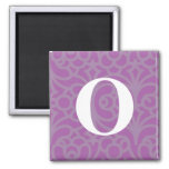 Ornate Floral Monogram - Letter O Fridge Magnets