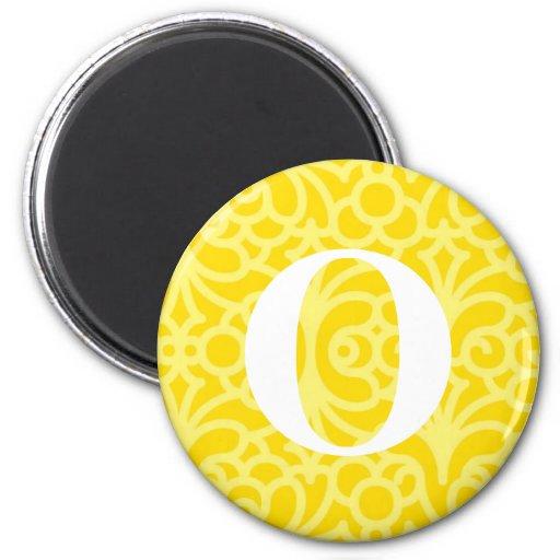Ornate Floral Monogram - Letter O Refrigerator Magnets