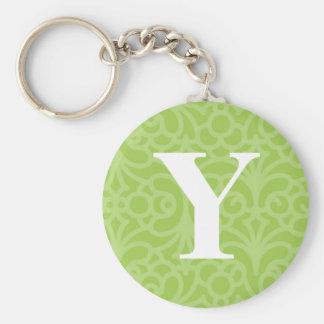 Ornate Floral Monogram - Letter Y Keychain