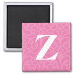 Ornate Floral Monogram - Letter Z Magnet