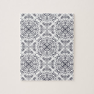 Ornate floral pale pattern puzzles