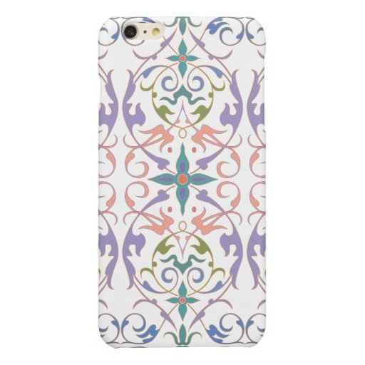ORNATE FLORAL PATTERN GLOSSY iPhone 6 PLUS CASE
