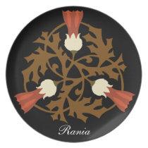 ornate floral prettyy dinner plate