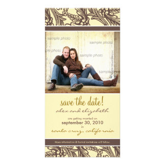 Ornate Floral Save the Date Announcement