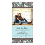 Ornate Floral Save the Date Announcement Photo Cards