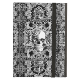 Ornate floral skull pattern iPad air cover