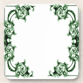 Ornate floral  swirl coasters