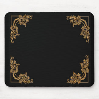 Ornate floral  swirl damask pattern mouse pad