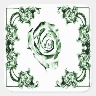 Ornate floral  swirl sticker