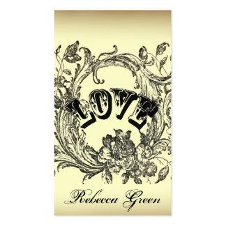 Ornate Flourish Swirls Vintage Wedding Business Card