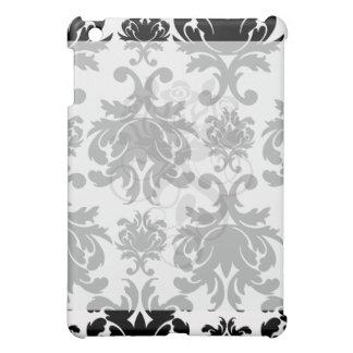 ornate formal black white damask case for the iPad mini