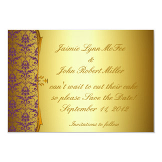 Ornate Formal Purple Gold Save the Date Cards