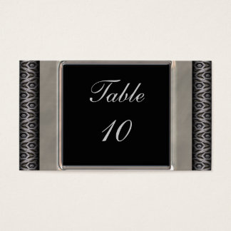 Ornate Frame 25th Wedding Anniversary Business Card
