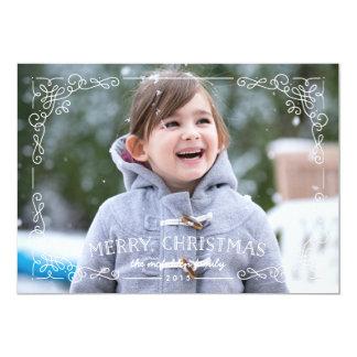 Ornate Frame Christmas Card - Snow