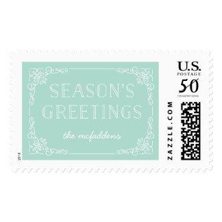 Ornate Frame Holiday Postage Stamp - Mint