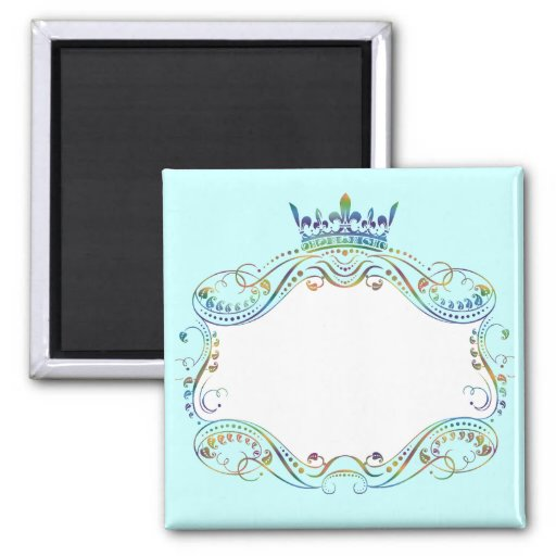 Ornate  Frame Medallion with Crown Magnets