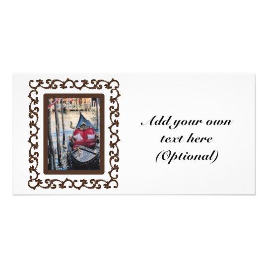Ornate Framed Gondola in Venezia Card