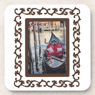 Ornate Framed Gondola in Venezia Coaster