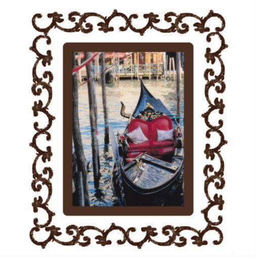 Ornate Framed Gondola in Venezia Photo Sculpture