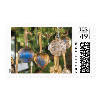 Ornate Glass Christmas Ornaments At Christmas Postage Stamp