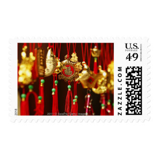 Ornate gold Chinese New Year decorations Stamp