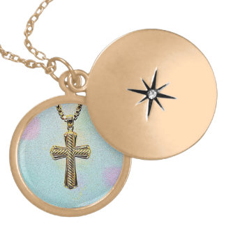 Ornate Gold Cross and Chain Gold Plated Necklace
