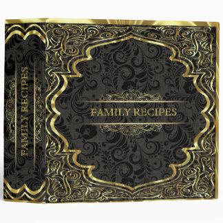 Ornate Gold & Embossed Frame - Textured Background Binder