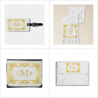 Ornate Gold Frame Monogram