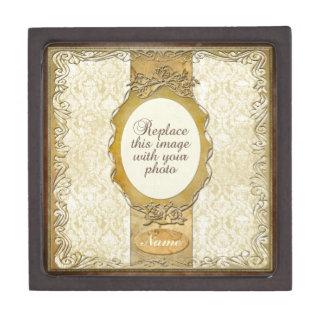 Ornate Gold Frame Round Opening Premium Gift Box