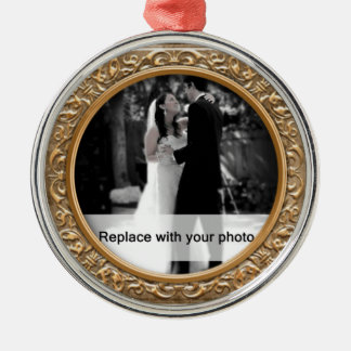 Ornate Gold Photo Frame Christmas Ornament