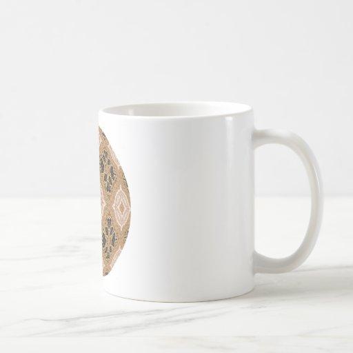Ornate Golden Coffee Mugs