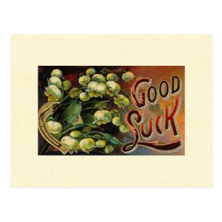 Ornate Good Luck Postcard