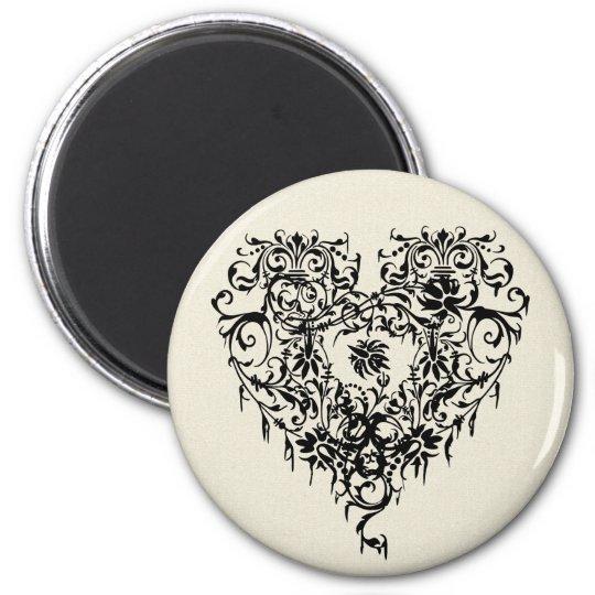 Ornate Gothic Heart Magnet