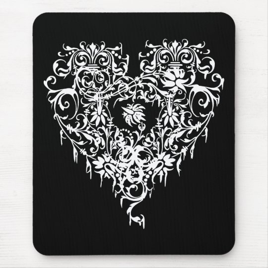 Ornate Gothic Heart Mouse Pad
