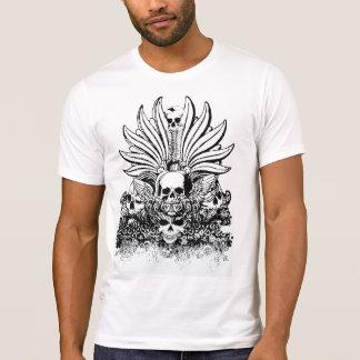 Ornate graphic design skulls men's t-shirt