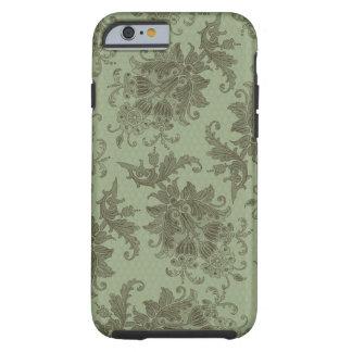 ornate green floral damask tough iPhone 6 case
