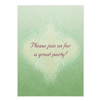 Ornate Green Invitation