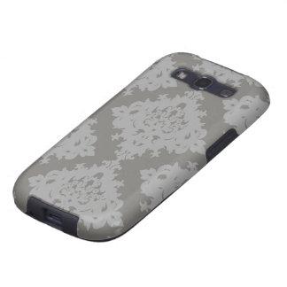 ornate grey diamond damask design galaxy s3 cases