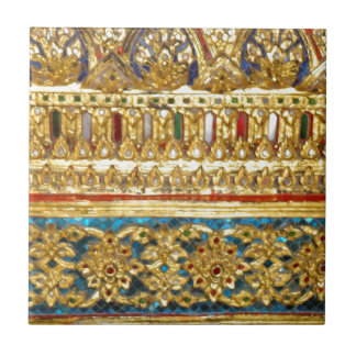 Ornate hand crafted Thai ceramics Ceramic Tile