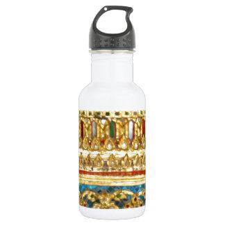 Ornate hand crafted Thai ceramics 18oz Water Bottle