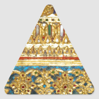Ornate hand crafted Thai ceramics Triangle Sticker
