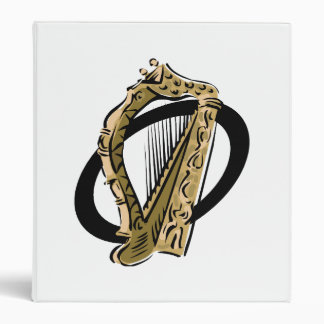 Ornate harp graphic black ring.png binder