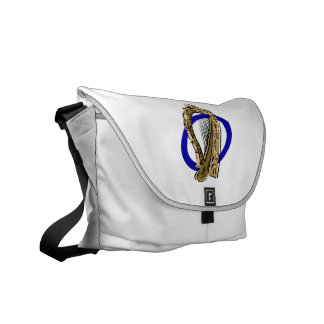 Ornate harp graphic blue ring.png courier bag