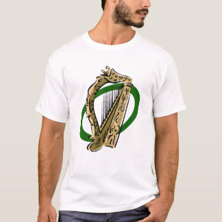 Ornate harp graphic green ring.png T-Shirt