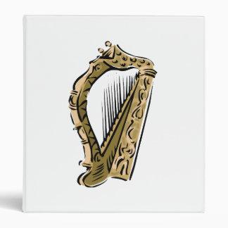 Ornate harp graphic  music.png 3 ring binder