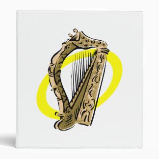 Ornate harp graphic yellow ring.png 3 ring binder