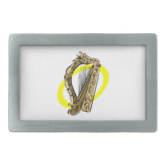 Ornate harp graphic yellow ring.png belt buckle