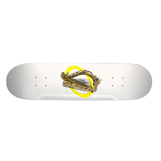 Ornate harp graphic yellow ring.png skateboard