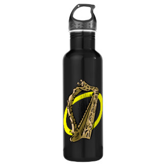 Ornate harp graphic yellow ring.png water bottle